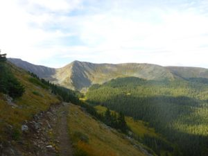 A segment of the unexpected new trail on the West Collegiate portion of the Colorado Trail.