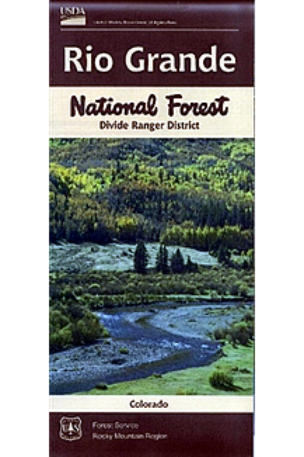Rio Grande National Forest Divide Ranger District Map